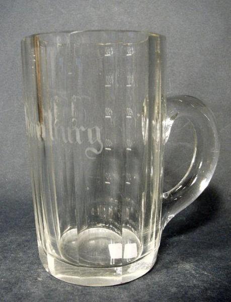 Bade-, Brunnenglas BAD HOMBURG, 19. Jh.