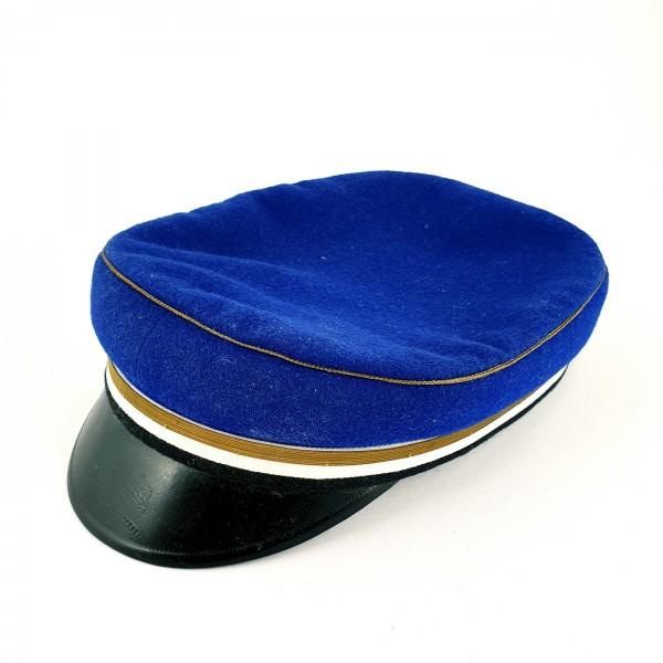 Studentika - Mütze blau mit Band gold weiss schwarz.