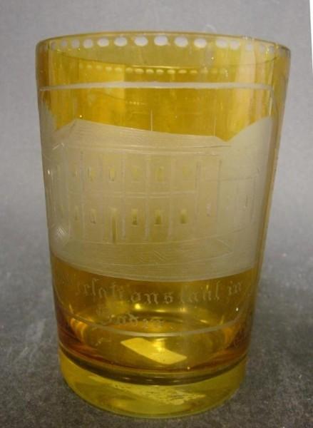 Becherglas mit Ansicht von BADEN-BADEN, 19.Jh.