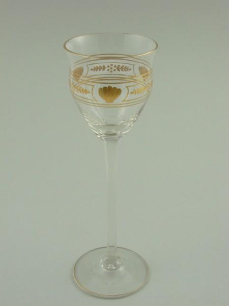 Jugendstil - Likörglas. Josephinenhütte, um 1900.