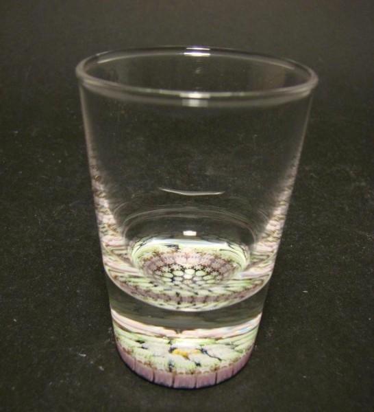 Schnapsglas mit Millefiori-Einlage, Pertshire Schottland.