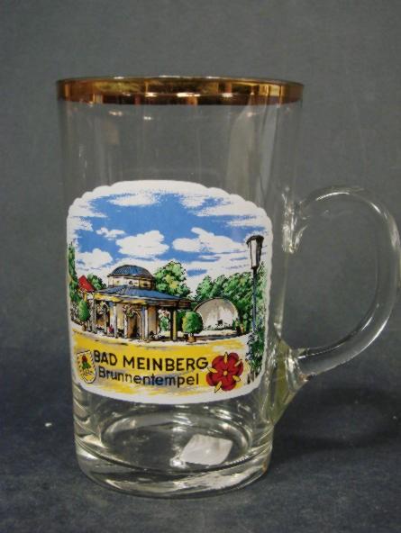 Brunnen-, Henkelbecher mit Ansicht von BAD MEINBERG.