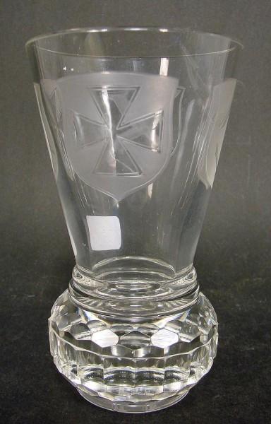 """Freimaurer - Logenglas """"Kanone"""", datiert 1926."""