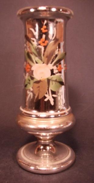 Bauernsilber / Silberglas Vase. Böhmen, 19.Jh.