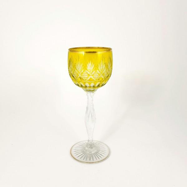 Weinglas / Römer mit Überfang. Frankreich Saint Louis, 1907.