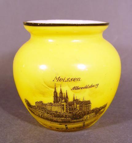 Andenken-, Vase MEISSEN Albrechtsburg.
