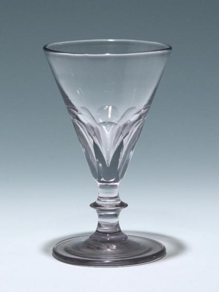 Kleines Absinthglas mit Abriss. Frankreich, 19.Jh.