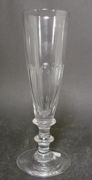 Sektglas, handgeschliffen. Frankreich, um 1900.