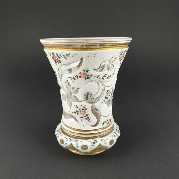 Biedermeier - Becherglas, 19.Jh.