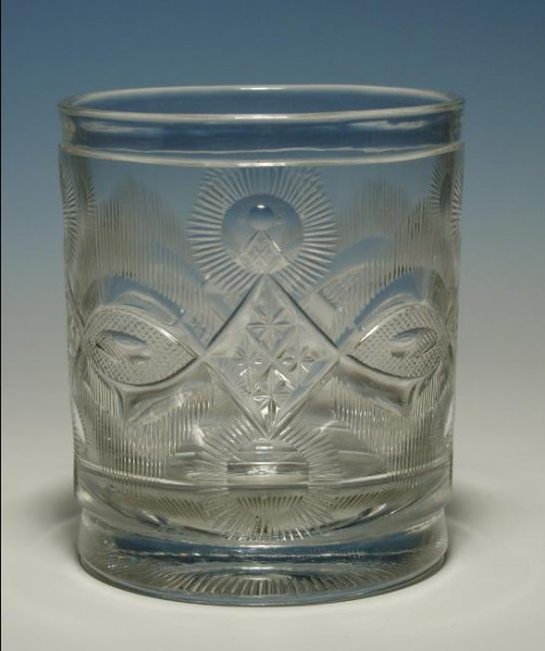 Biedermeier - Becherglas, um 1830.