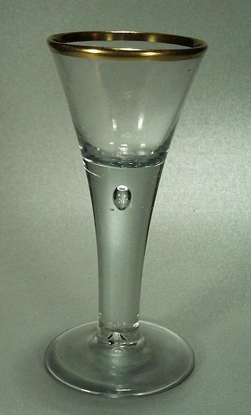 Barock - Kelchglas mit Goldrand. Lauenstein, 18.Jh.
