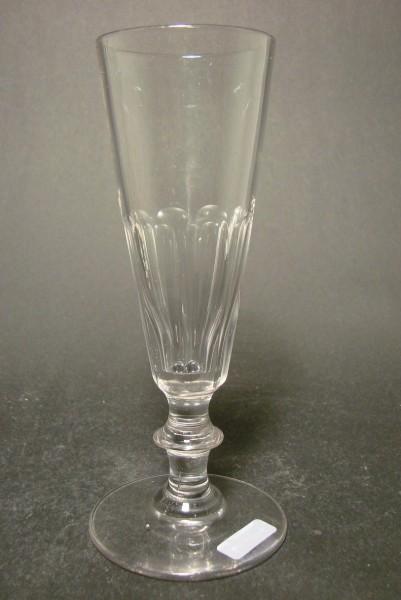 Sektglas, handgeschliffen. Frankreich, Ende 19.Jh.