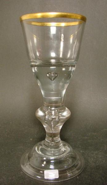 Barock -Pokalglas mit Goldrand. Lauenstein, ca. 1770.