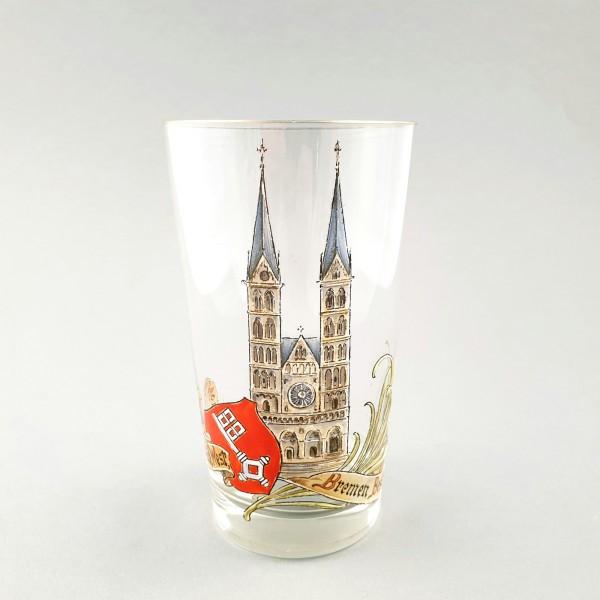 Ansichten-, Andenkenglas BREMEN, um 1900.