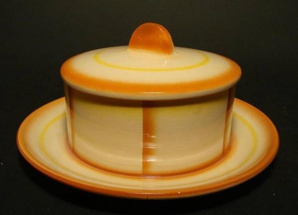 Art Deco - Butterdose mit Spritzdekor, Stützel-Sachs in Aalen