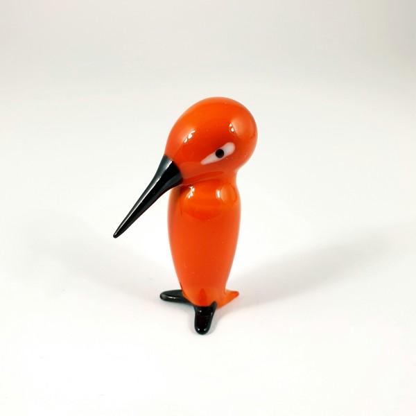 Lauscha - Vogel / Specht, vor der Lampe geblasenes Glas.