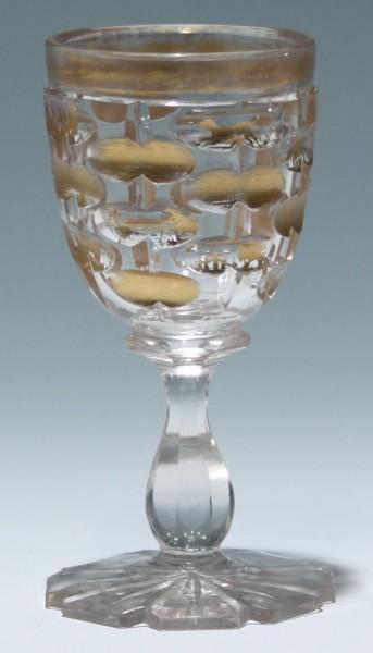 Kelchglas / Weinglas mit Jagdmotiven, Mitte 19. Jh.