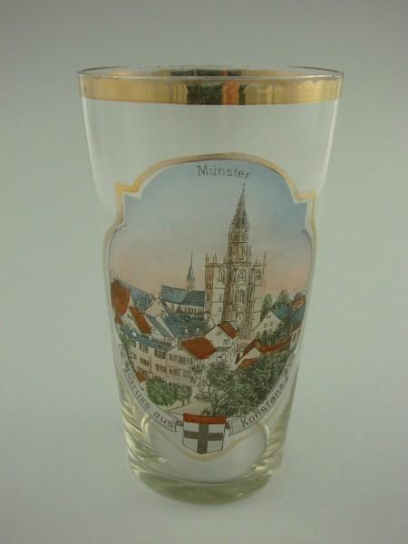 KONSTANZ Andenken-, Ansichtenglas, um 1900.
