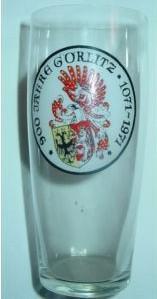 Andenken-, Bierglas 700 Jahre GÖRLITZ 1071-1971. Schlesien.