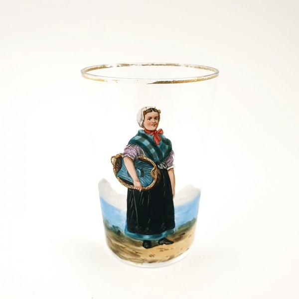 Becherglas / Trachtenglas, um 1900.