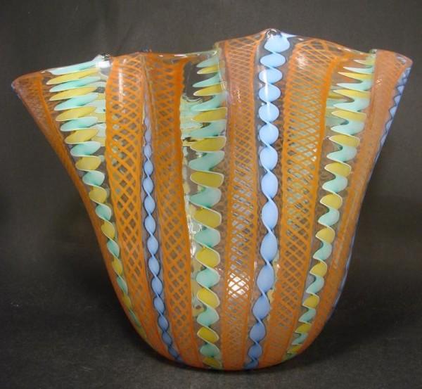 9997 / Murano - große Zanfirico Vase, signiert