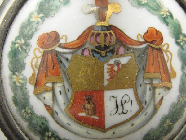 st183 / Studentika - Bierkrug mit Vollwappen, 19.Jh.