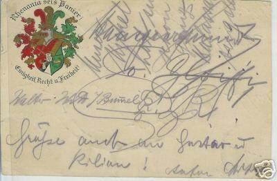 Studentika - Wappen-Postkarte RHENANIA, gelaufen 20erJahre