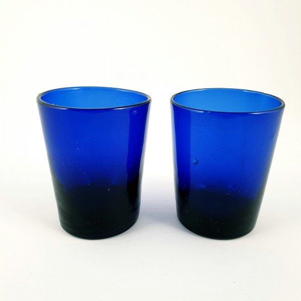 2 Öllampen, kobaltblau. Frankreich, 19.Jh.