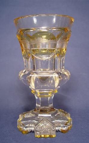 Ansichten-, Pokalglas mit RHEINANSICHTEN, 19.Jh.