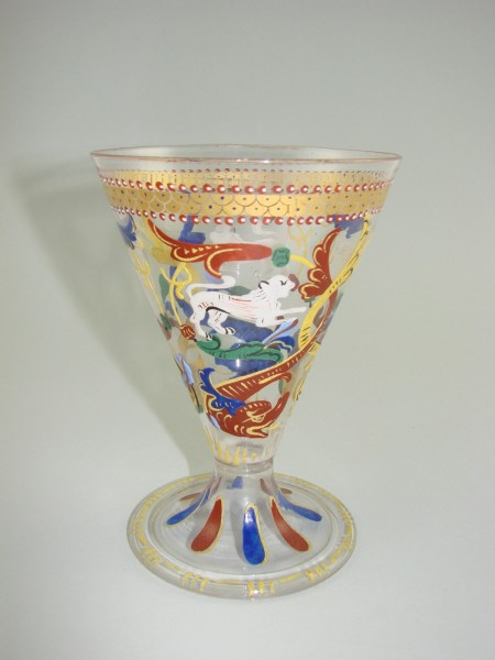 Murano - Trichterpokal. Salviati, von 1867.