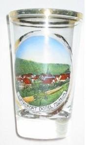 Andenken-, Becherglas DOBEL / Luftkurort im Schwarzwald, um 1920