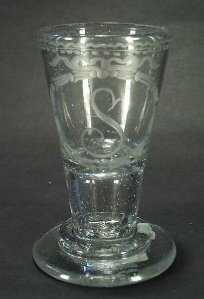 Barock - Kelchglas / Schnapsglas. Norddeutschland, 18.Jh.
