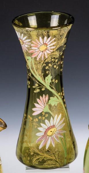 Jugendstil - Vase mit MARGERITEN.Legras, um 1910.