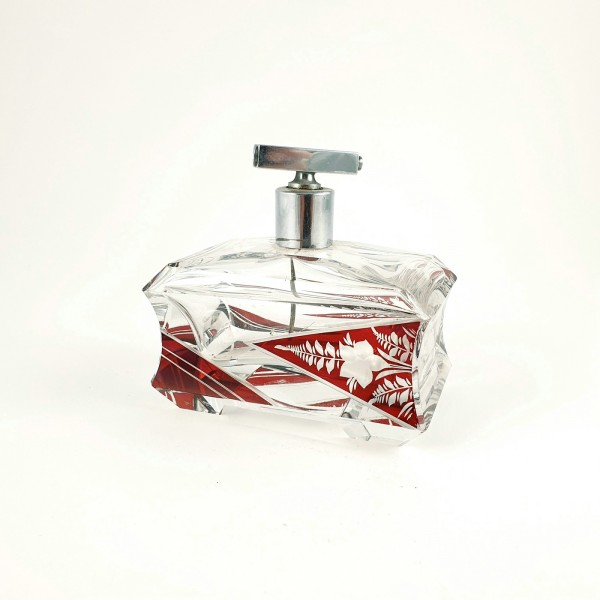 Art Deco - Parfüm Flakon. Böhmen, um 1930.