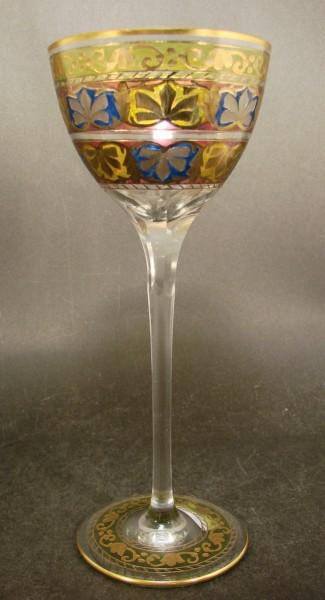 Weinglas / Stängelglas JODPHUR. Josephinenhütte, um 1912.